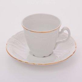"""набор чайных пар 230 мл 6 шт высокие """"бернадотт /отводка золото"""" / 006025"""