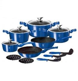 "набор посуды 15 предметов ""ruyal blue metallic line"" / 128233"