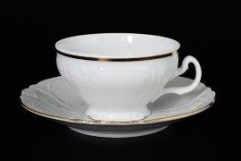 """набор чайных пар 220 мл 6 шт низкие н/н """"бернадотт /отводка золото"""" / 006024"""