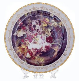 """настенная тарелка 32 см """"цветы 5"""" / 085326"""
