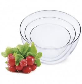 """набор салатников 3 предмета (0,7 л, 1,5 л, 2,5 л) """"simax /без декора"""" / 134323"""