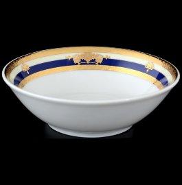 """набор салатников 13 см 6 шт """"яна /синяя полоса с золотым вензелем"""" / 056376"""