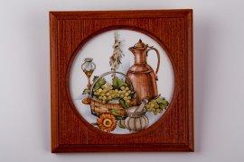 """настенная тарелка """"130"""" (дерево+картон) / 013331"""