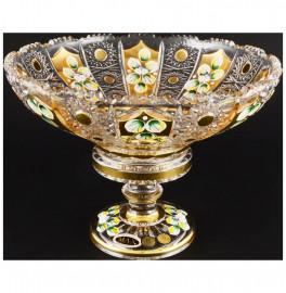 """ваза для фруктов 25 см н/н """"хрусталь с золотом"""" / 044501"""