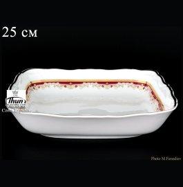 """салатник 25 см квадратный """"мария-луиза /лилии на красном"""" / 056433"""