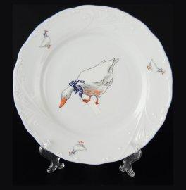 """набор тарелок 25 см 6 шт """"лиана /гуси"""" / 051035"""