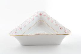 """салатник 25 см треугольный """"соната /розовый цветок"""" / 085488"""