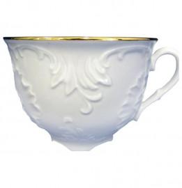 """чайная чашка 330 мл 1 шт """"рококо /отводка золото""""  / 124233"""
