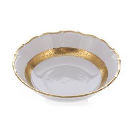 """набор салатников 16 см 6 шт """"мария-тереза /золотая матовая лента"""" / 001857"""