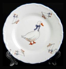 """набор тарелок 19 см 6 шт """"офелия /гуси"""" / 013563"""