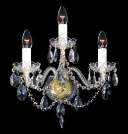 """бра 3 рожковый хрусталь """"royal bohemia"""" d-38 см, h-38 см, вес-3 кг / 134703"""