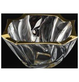 """ваза для конфет 19 см """"нептун /золотой кант""""  / 096283"""
