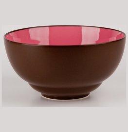 """салатник 20 см коричневый, розовый внутри """"вехтерсбах"""" / 034600"""