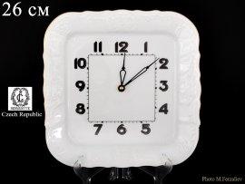 """часы настенные 26 см квадратные """"бернадотт /отводка золото"""" / 066250"""