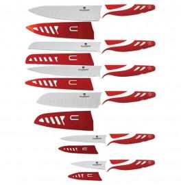 """набор кухонных ножей 12 предметов """"blaumann"""" красные / 131633"""