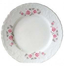 "тарелка 17 см 1 шт ""рококо /серая роза /платина"" / 109870"