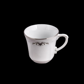 """чайная чашка 250 мл 1 шт """"камелия /серый орнамент"""" / 109732"""