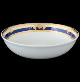 """набор салатников 19 см 6 шт """"яна /синяя полоса с золотым вензелем"""" / 051109"""