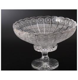 """ваза для фруктов 40 см н/н """"хрусталь резной"""" / 006682"""