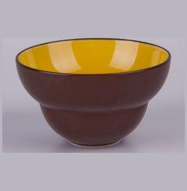 """салатник 11 см коричневый, жёлтый внутри """"вехтерсбах"""" / 034590"""