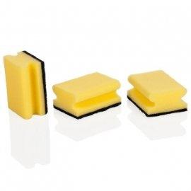 """губки кухонные 3 шт с петелькой """"tescoma /clean kit""""  / 141421"""