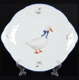 "тарелка для торта 27 см ""бернадотт /гуси"" / 094187"