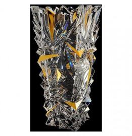 """ваза для цветов 30,5 см """"glacier /с золотом"""" хрусталь йиглава / 099843"""