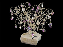 сувенир в форме дерева, 45 подвесок, h - 21 см / 040012