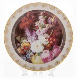 """настенная тарелка 32 см """"цветы 6"""" / 085327"""