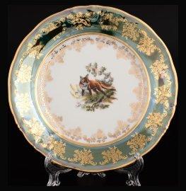 """набор тарелок 19 см 6 шт """"офелия /охота зелёная""""   / 122792"""