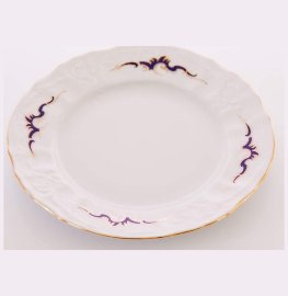 "набор тарелок 17 см 6 шт ""бернадотт /синие вензеля /золото"" / 101450"