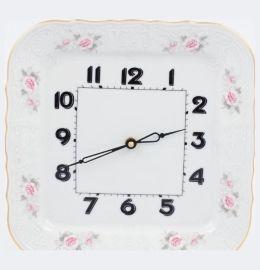 """часы настенные 26 см квадратные""""бернадотт /серая роза /золото"""" / 147235"""