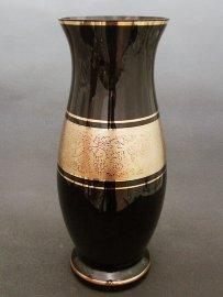 """ваза для цветов 40 см """"чёрная с золотом"""" / 018716"""