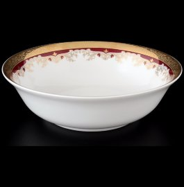 "салатник 23 см ""кристина /лилии на красном"" / 056195"