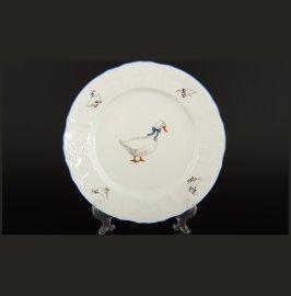 "набор тарелок 25 см 6 шт ""бернадотт гуси"" / 107555"