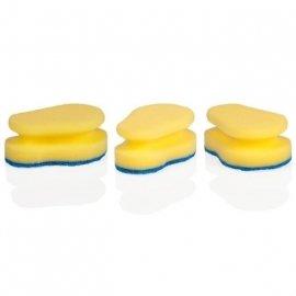 """губки кухонные 3 шт для деликатных поверхностей """"tescoma /clean kit"""" / 141419"""