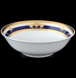 """набор салатников 16 см 6 шт """"яна /синяя полоса с золотым вензелем"""" / 056377"""
