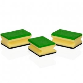 """губки кухонные 3 шт многофункциональные """"tescoma /clean kit"""" / 141420"""
