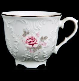 """чайная чашка 250 мл 1 шт """"рококо /серая роза /платина"""" / 111504"""