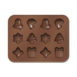 "формочки для шоколада 18 х 14 см рождественские мотивы  ""tescoma /delícia silicone"" / 142568"