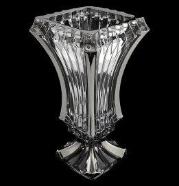"""ваза для цветов 30 см """"prague /с платиной"""" хрусталь йиглава / 105082"""