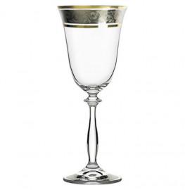 """бокалы для белого вина 185 мл 6 шт """"анжела /цветочный узор на платине"""" / 005191"""