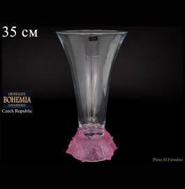 """ваза для цветов 35 см """"фрост /розовая"""" / 006761"""