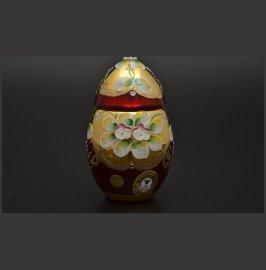 """вазочка 10 см с крышкой - яйцо """"лепка красная"""" / 017212"""