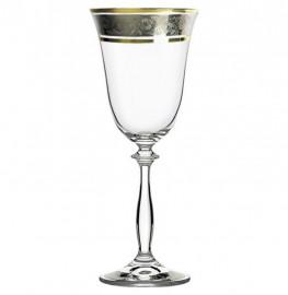 """бокалы для красного вина 250 мл 6 шт """"анжела /цветочный узор на платине"""" / 007200"""