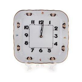 """часы настенные 26 см квадратные """"бернадотт /синеглазка"""" / 113512"""