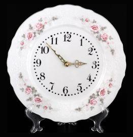 """часы настенные 27 см круглые """"бернадотт /серая роза /платина"""" / 087346"""