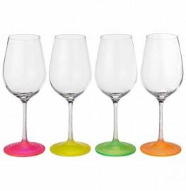 """бокалы для красного вина 350 мл 6 шт """"виола /морозный неон /ассорти"""" / 111283"""