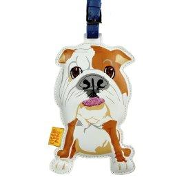 """кожаный брелок на сумку """"bull dog"""" / 144002"""