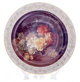 """настенная тарелка 32 см """"цветы 7"""" / 085328"""